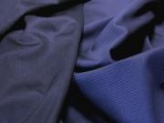 Ткань костюмная  стрейч Хлопок Пике синий